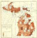 USA: Death rate due Diphtheria Croup per 100, 000 population , 1900 old map